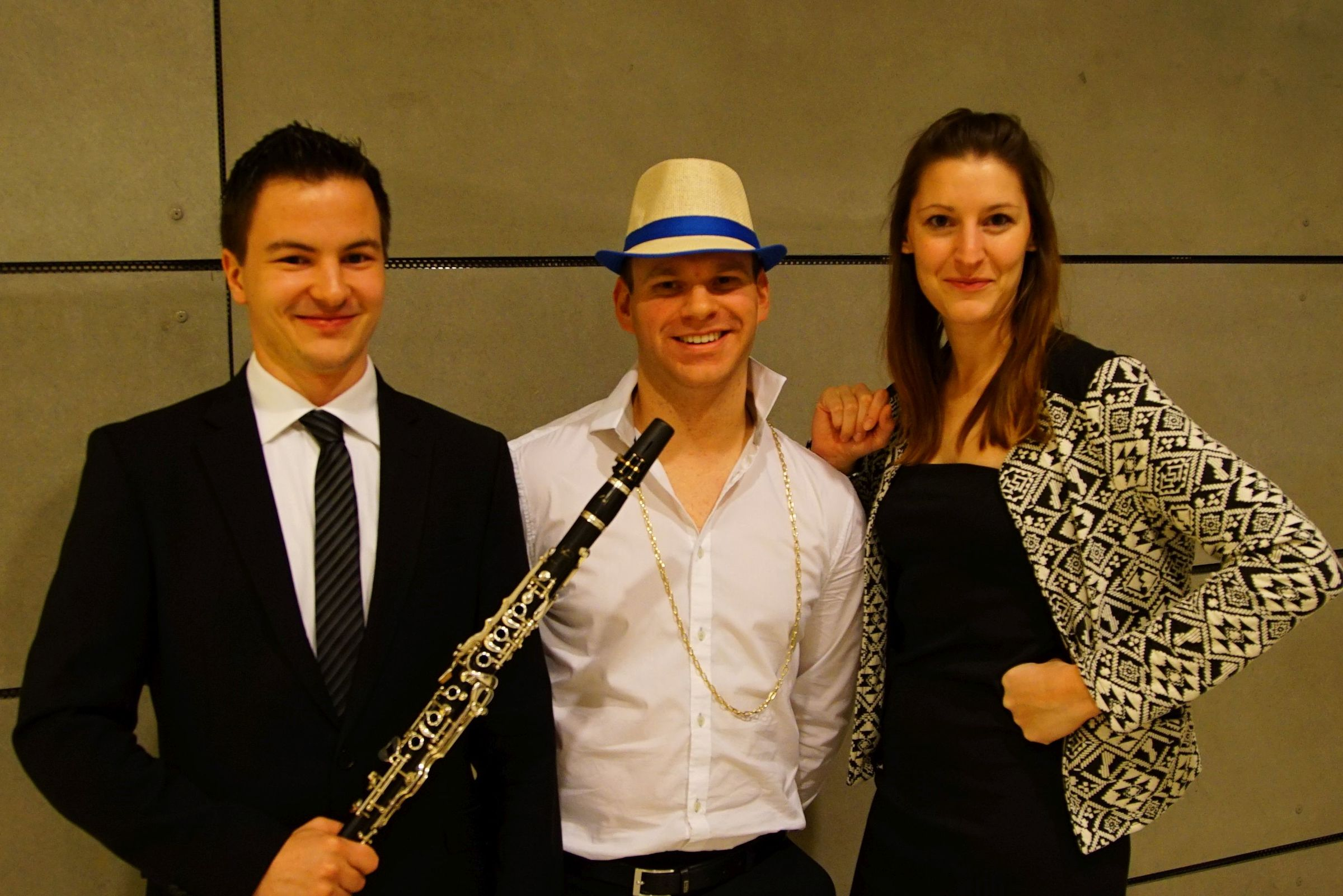 Wolfgang Smode, Christoph Heil und Sigrid Bürstmayr sind MusikerInnen der Grazer BläserVielharmoniE.