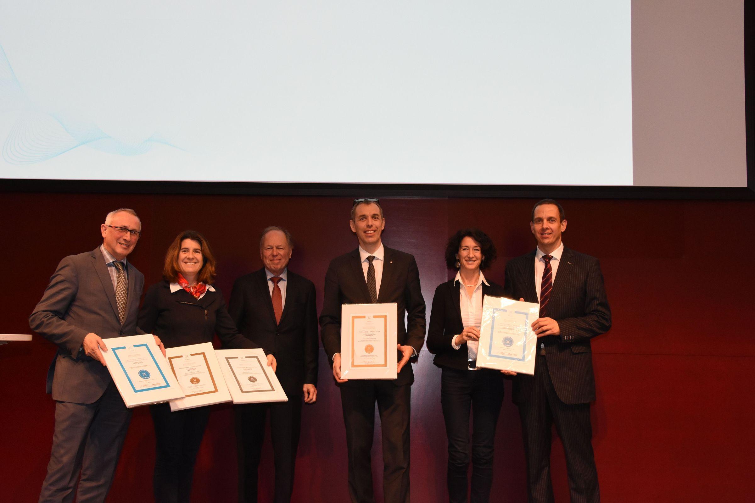 Rektor Karl Peter Pfeiffer; Doris Kiendl-Wendner; Birger Hendriks; Martin Tschandl; Eva Adamer-König, Dieter Vogl.
