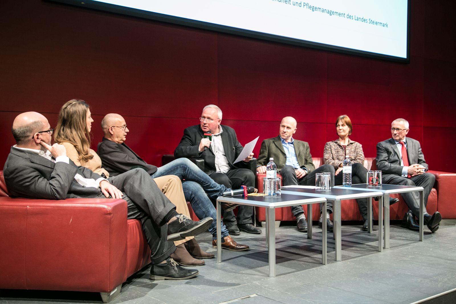 Christian Schwarz, Christine Korak, Michael Lehofer, Heinz M. Fischer, Rainer Christ, Beate Salchinger und Karl Peter Pfeiffer