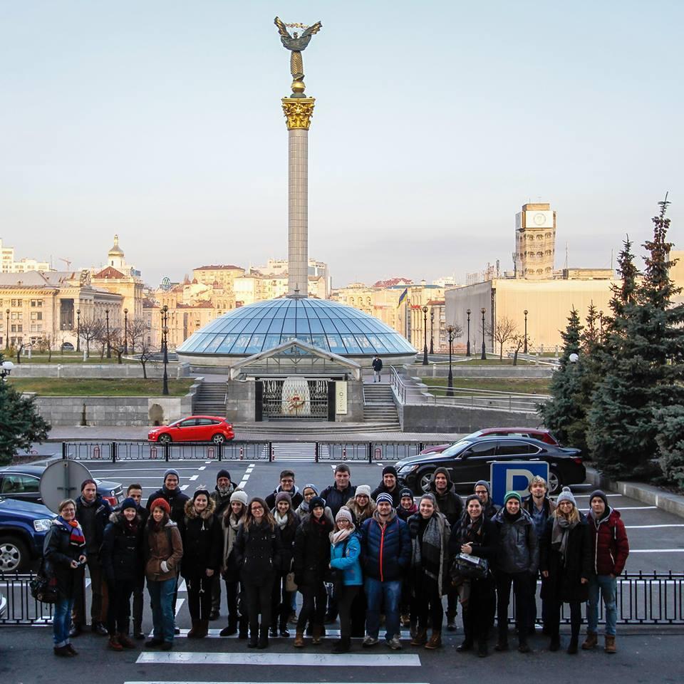 Ihre Reise führte die Studierenden von JPR14 unter anderem in die ukrainische Hauptstadt.