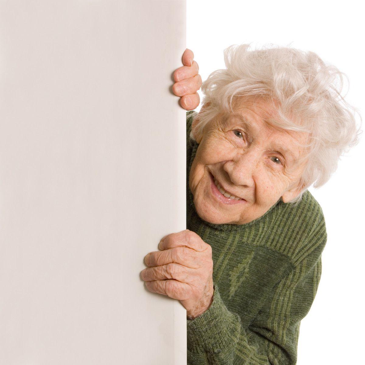 Foto einer älteren Dame.