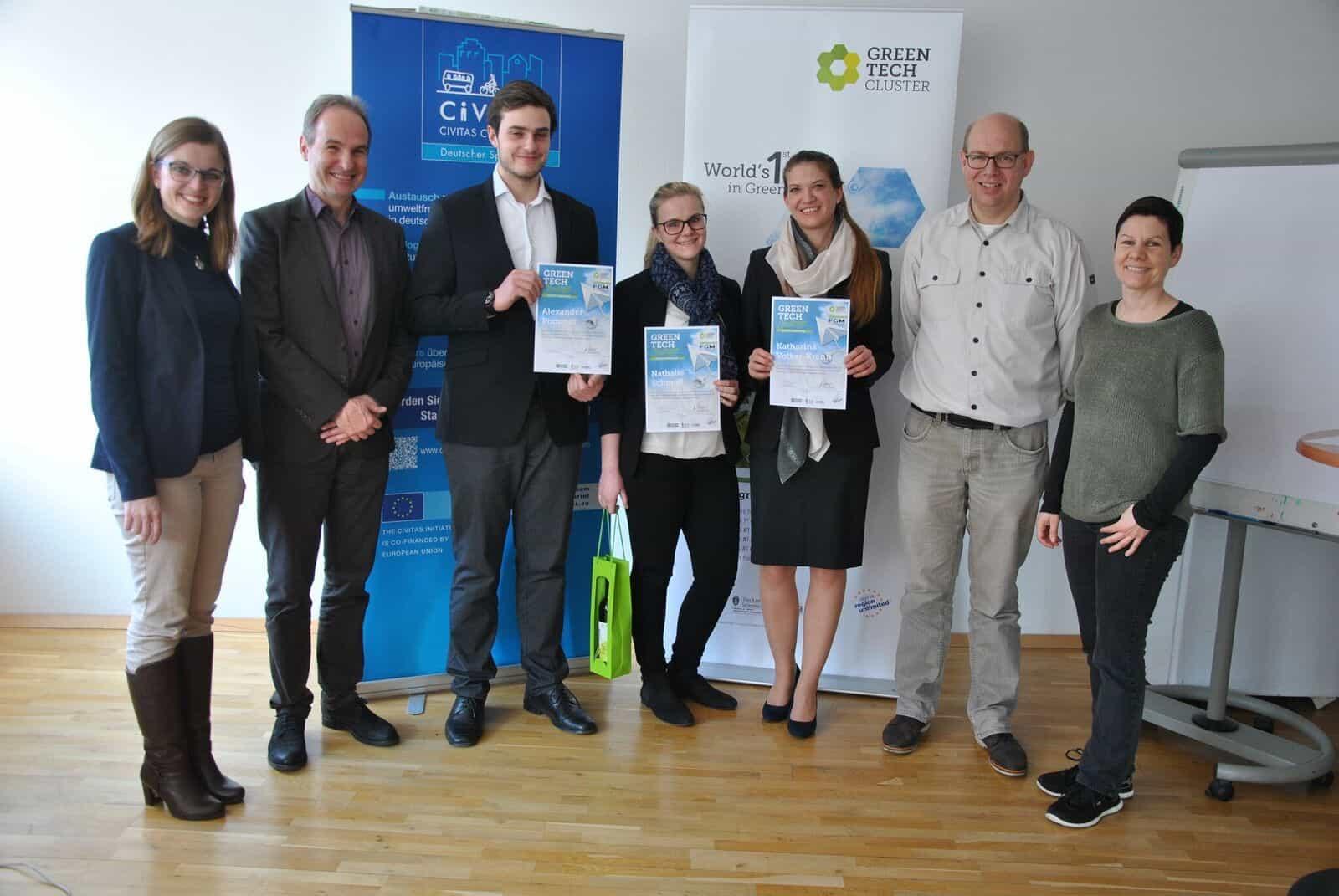 Das Projektteam gemeinsam mit Maria Ortner, Karl-Heinz Posch, Martijn Kiers und Tina Sovec.