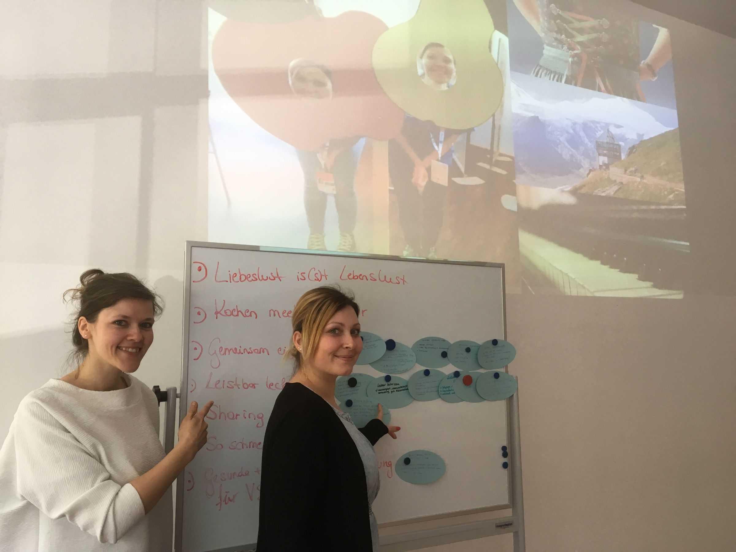 Natalie Möstl und Ingrid Pöllabauer präsentierten ihr Projekt.