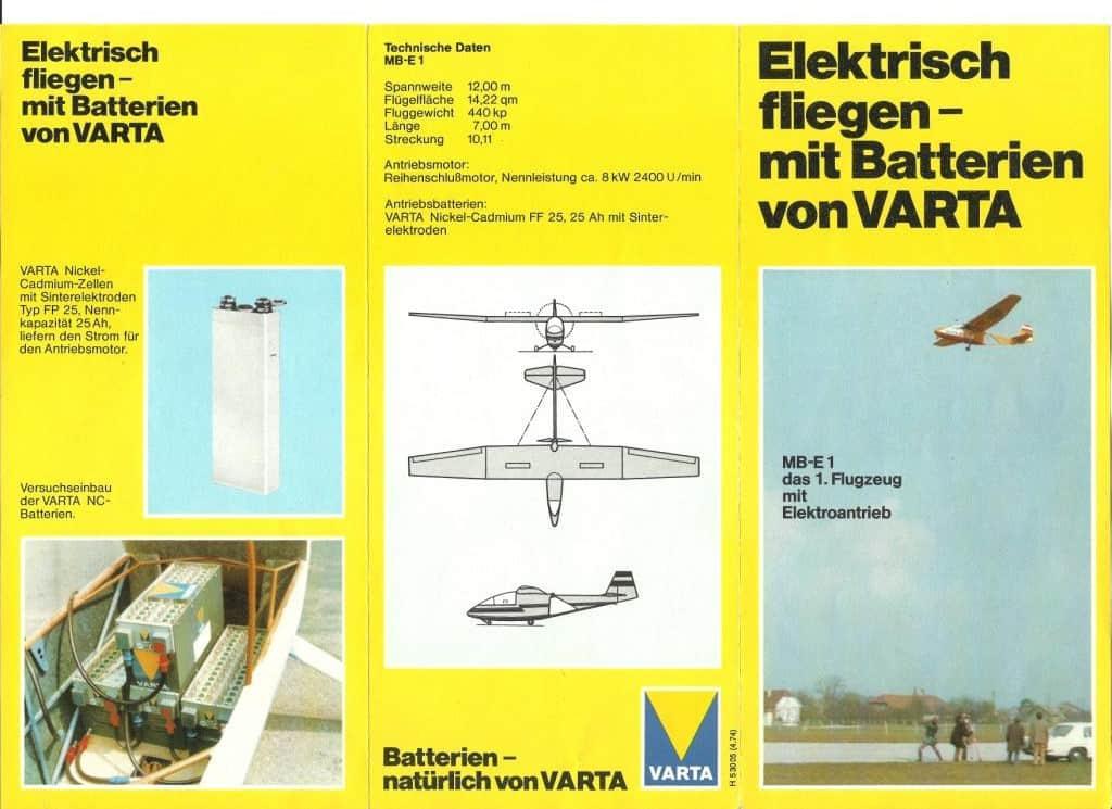 Skizze des E-Fliegers