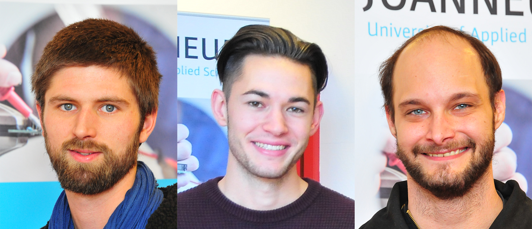 Lucas Mandl (24), Matthias Reibenschuh (21) und Philipp Rossak (26)