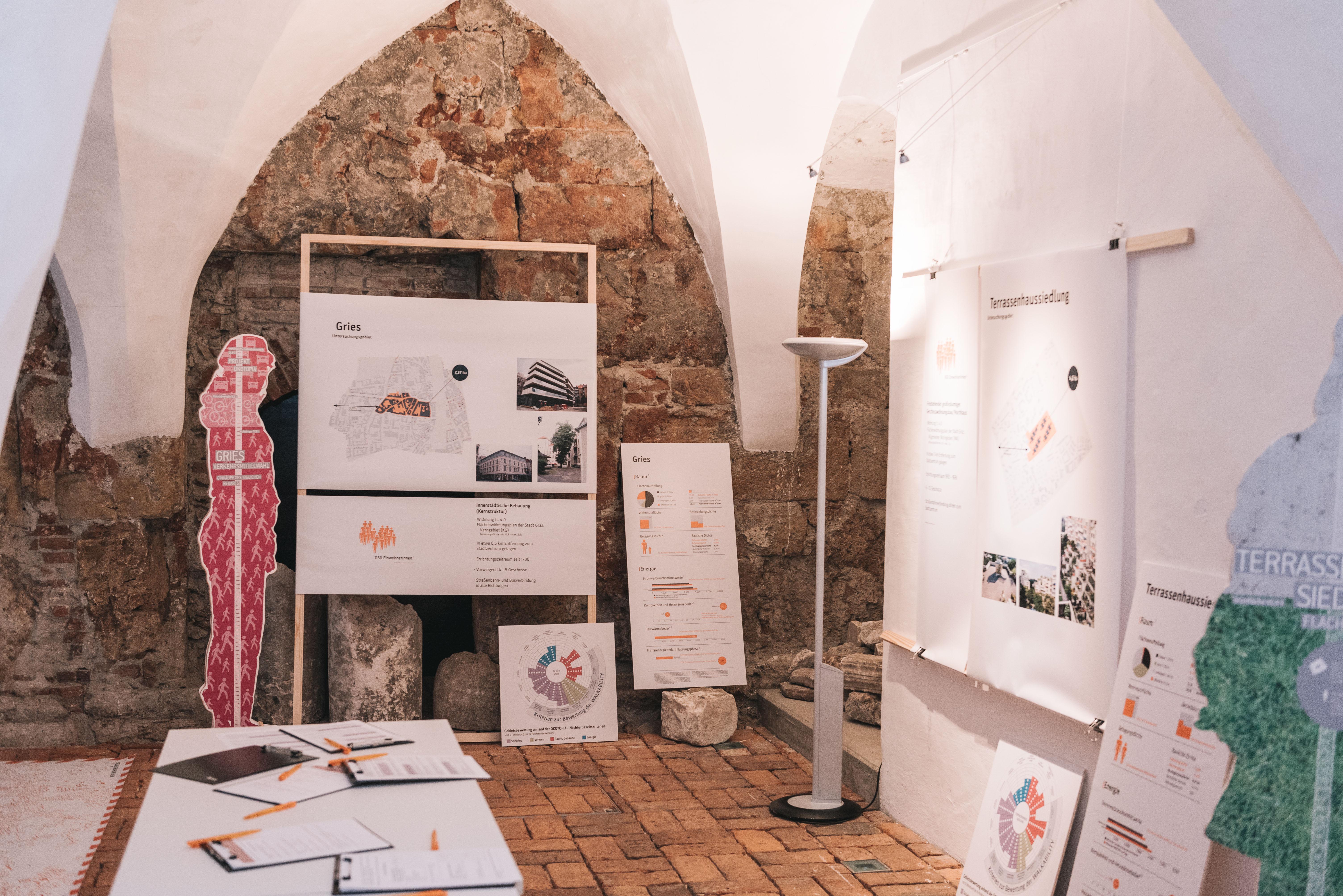 Ausstellungsstücke auf weißem Hintergund