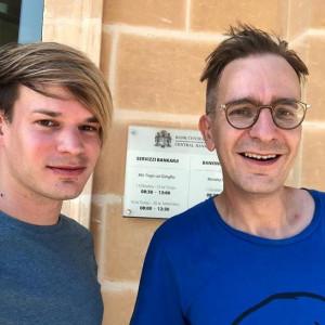Daniel Deutsch und Investmentbanker Gerald Hörhan beim VIP Event auf Malta.