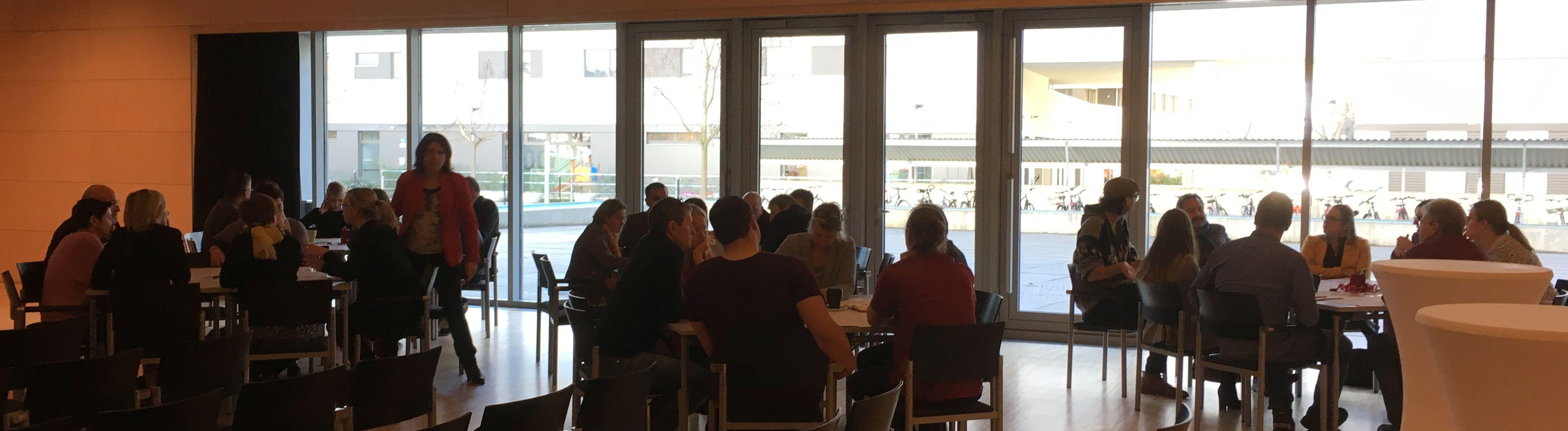 Diskussionen im World Café