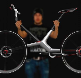 AUDI BEIK / Fahrrad mit Knicklenker