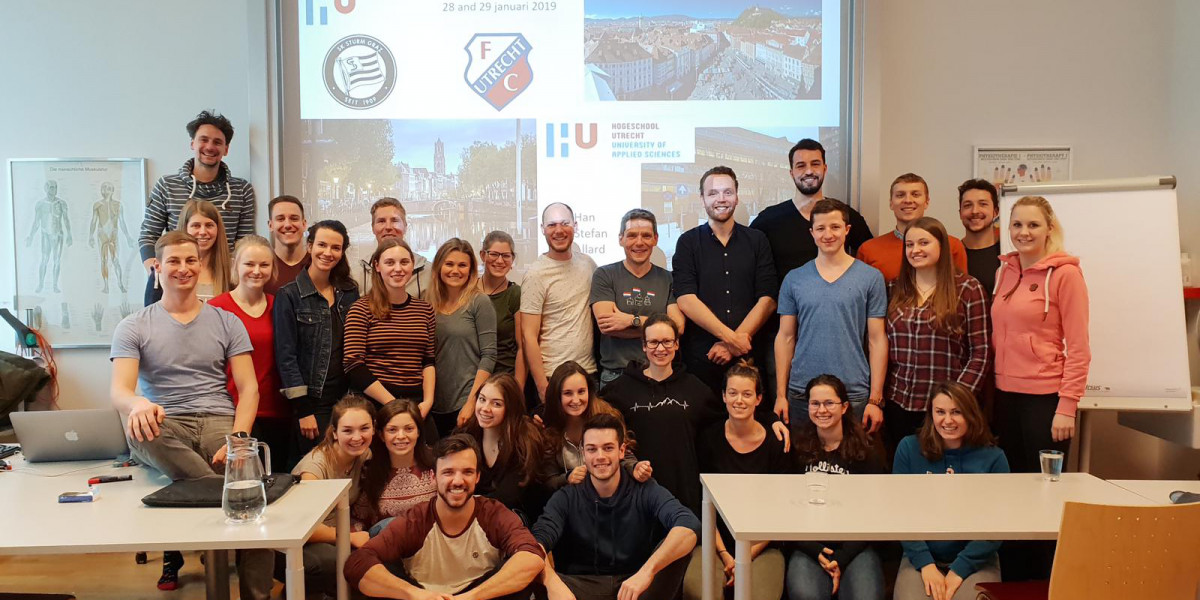 Beim Besuch der Partnerhochschule Utrecht an der FH JOANNEUM kam auch der Spaß nicht zu kurz.