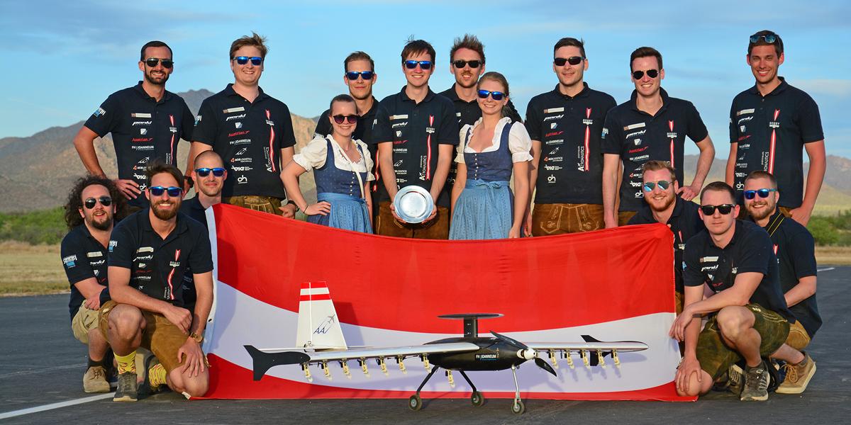 Das erfolgreiche Team der joanneum Aeronautics.