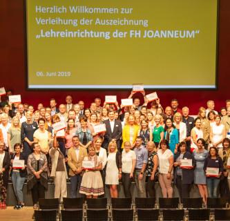 """Auszeichnung """"Lehreinrichtung der FH JOANNEUM"""" an 63 Institutionen verliehen"""