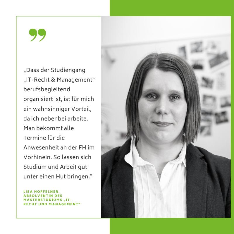 Lisa Hoffelner erzählt über die Vereinbarkeit von Studium und Arbeit.