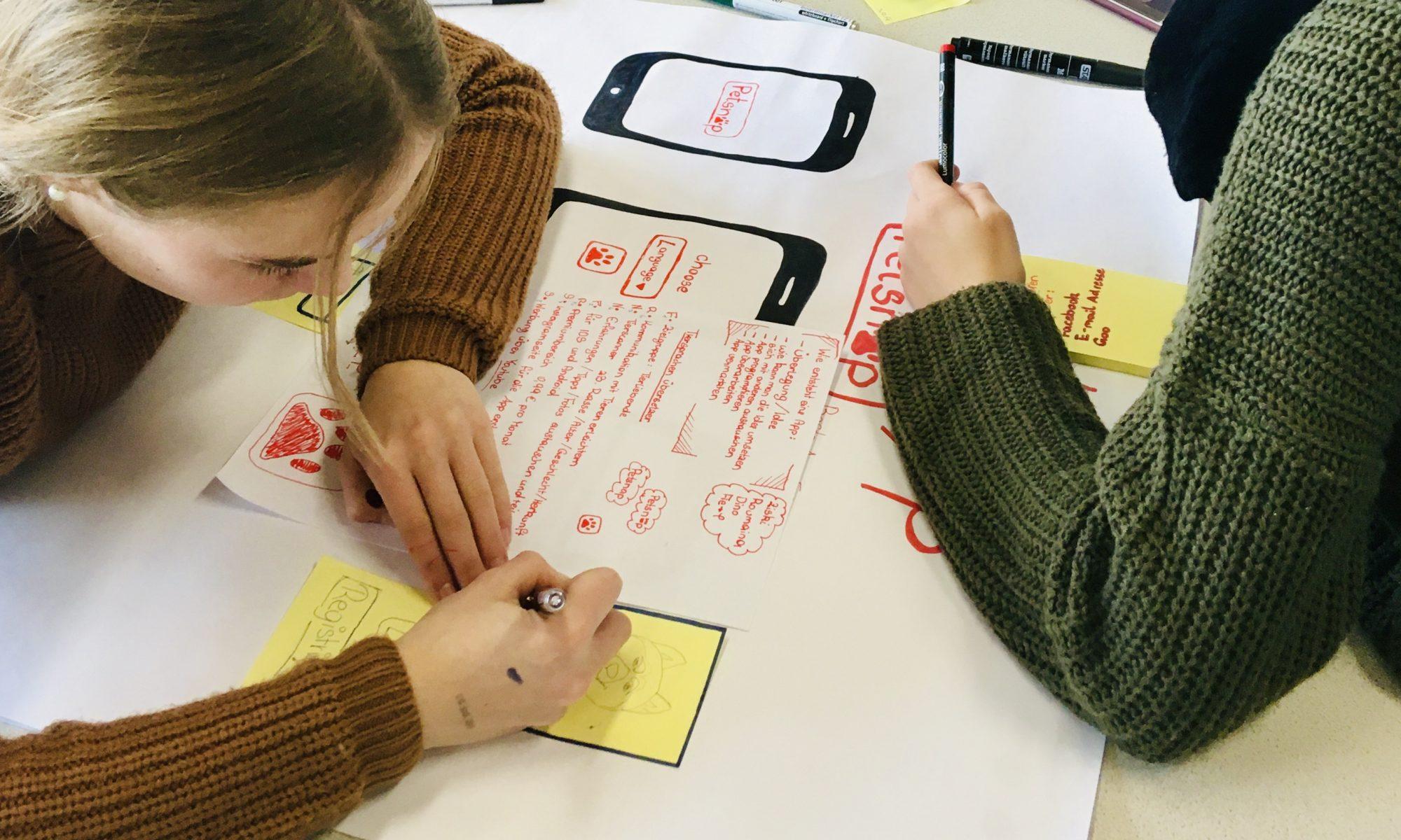 Erstellung eines Paper-Prototypen