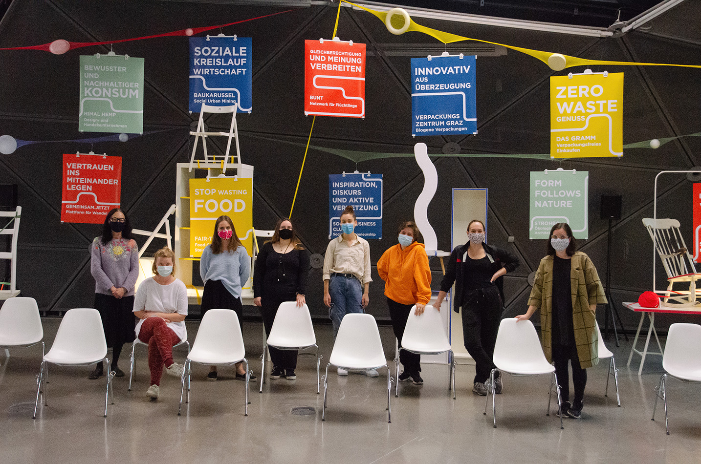 Exhibition designers from the FH made some future ideas for the modern art museum in Graz.
