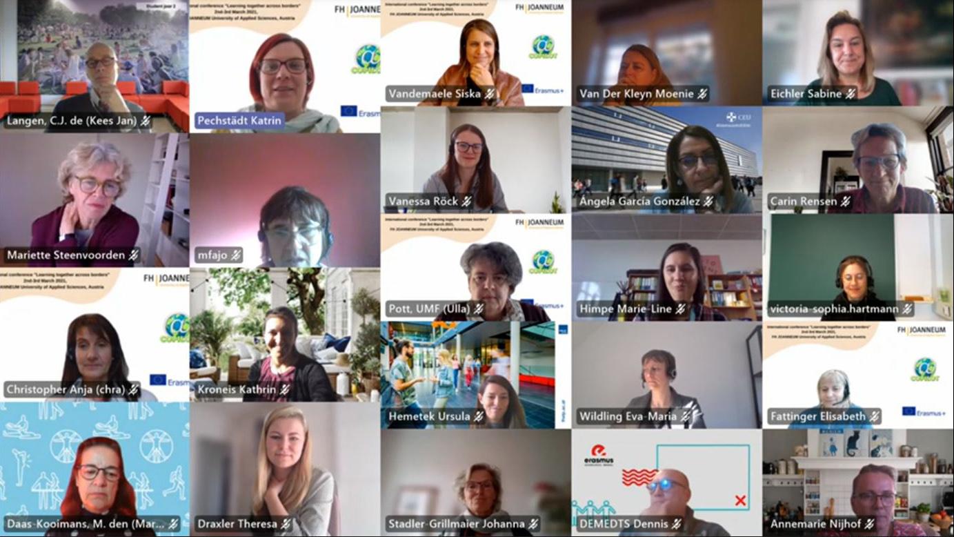 Einige der Teilnehmerinnen und Teilnehmer am ersten Tag der Online-Konferenz.
