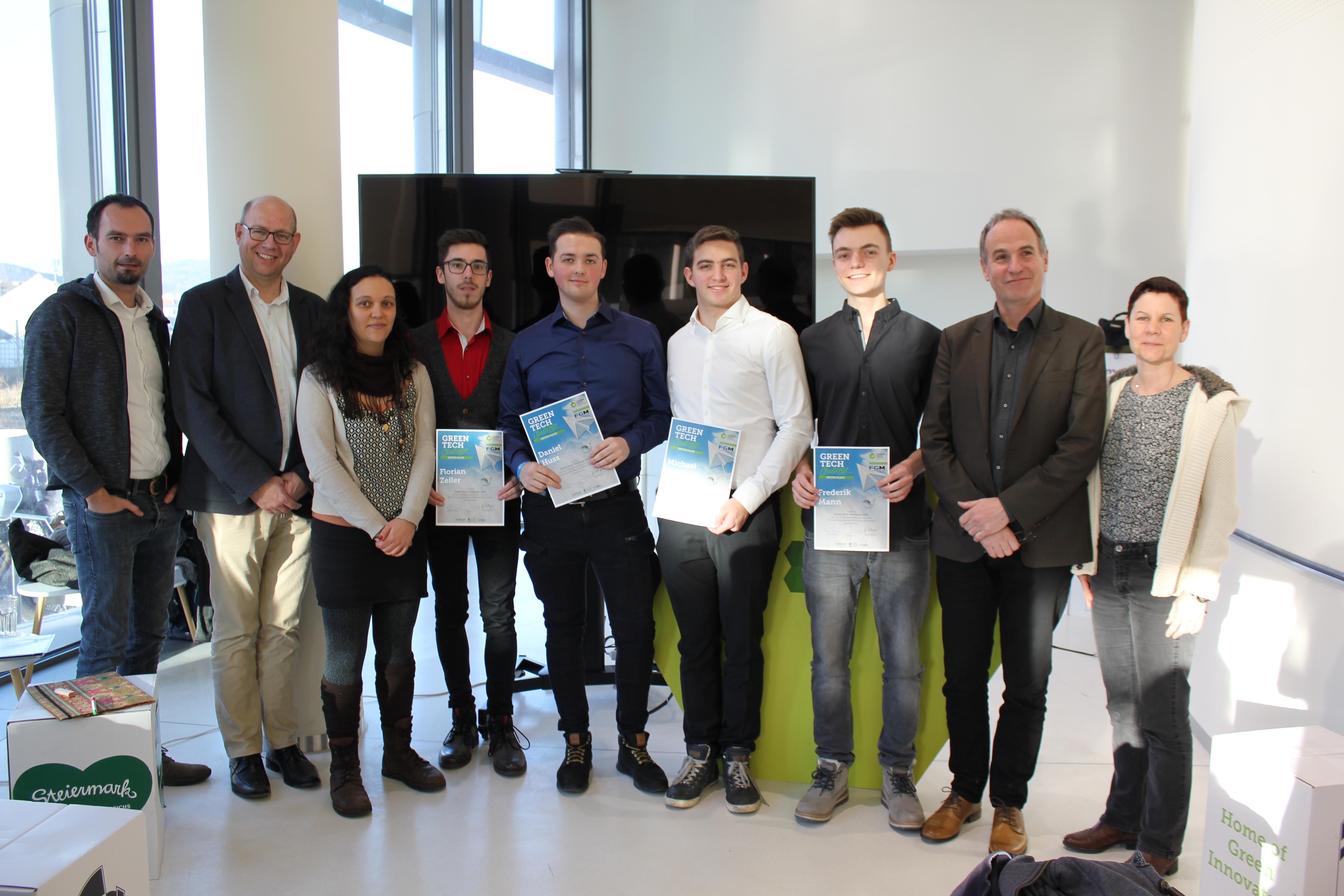 Die Gewinner der Green Tech Challenge.