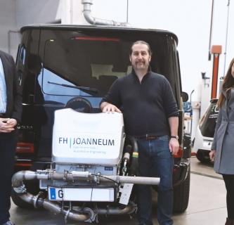 Österreichs erste Prüfstelle für EU-konforme mobile Abgasmessungen an der FH JOANNEUM.