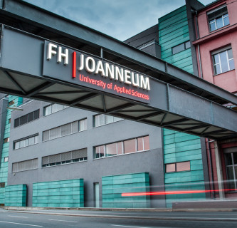 Baustelleninformation für die Kreuzung bei der FH JOANNEUM