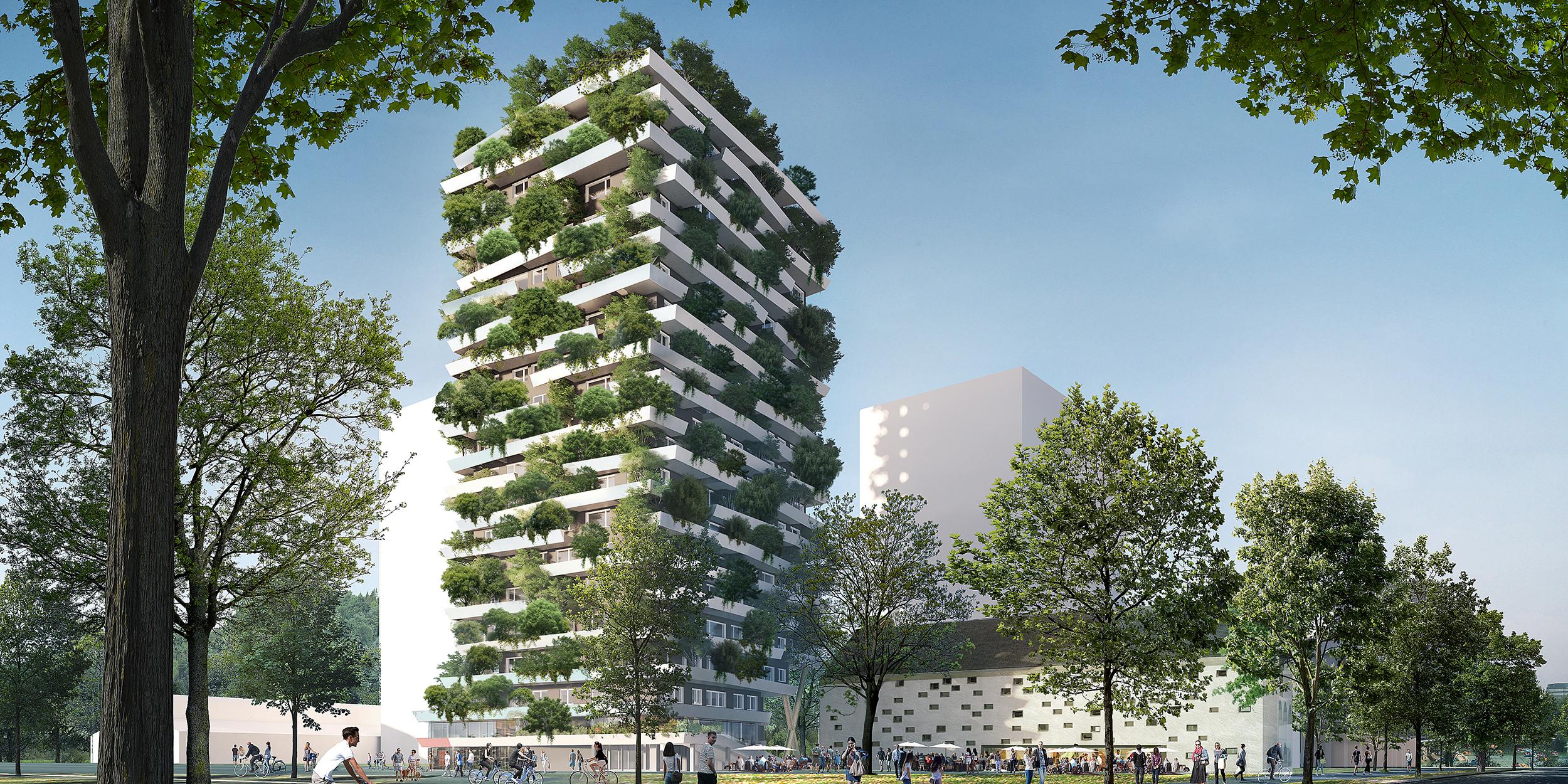 Green Tower, Quartier Eins - Reininghausgründe Graz.