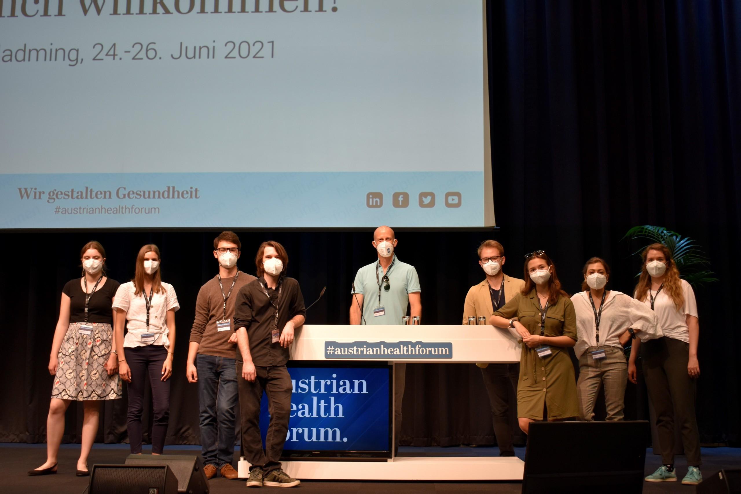 Die Studierenden beim Austrian Health Forum in Schladming.