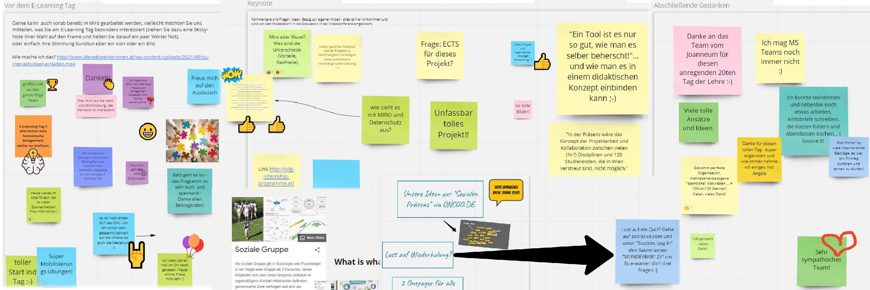 """""""Miroboard"""" – Sammlung von Eindrücken und Gedanken vor, während und nach dem E-Learning Tag."""