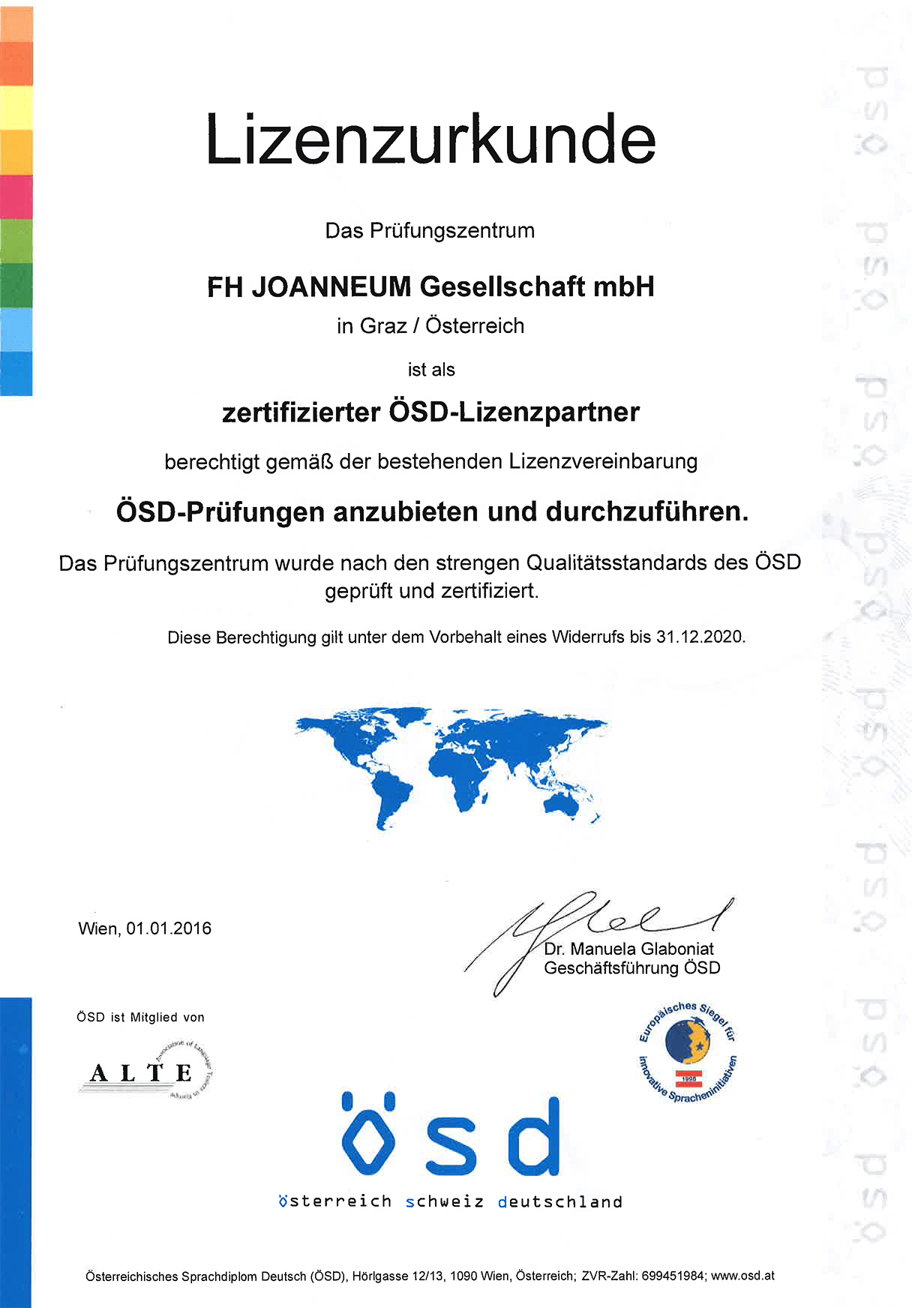 German Language Diploma ösd Fh Joanneum