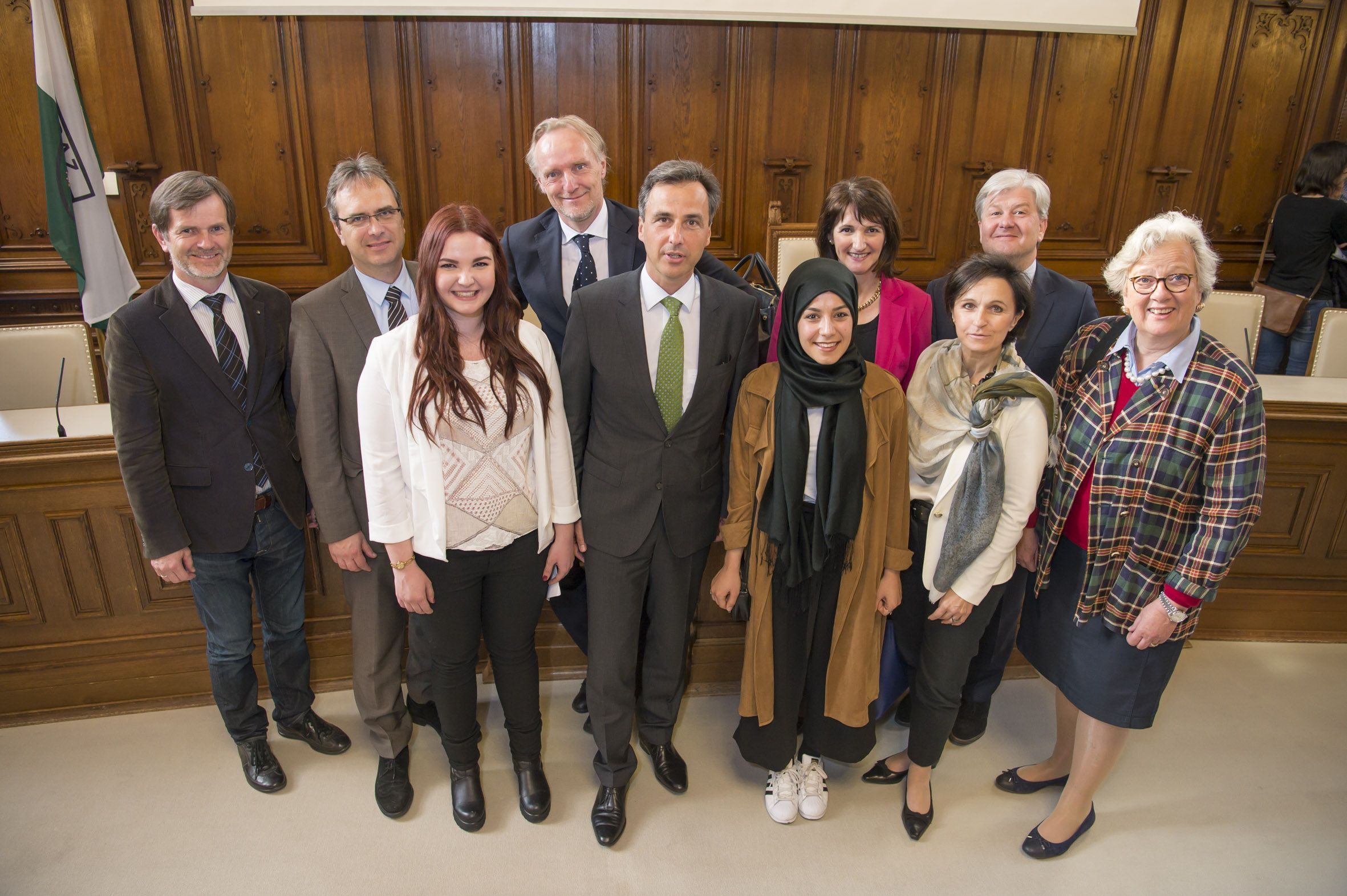 Bürgermeister Siegfried Nagl und VertreterInnen der Grazer Hochschulen nahmen sich Zeit, die internationalen Studierenden willkommen zu heißen.