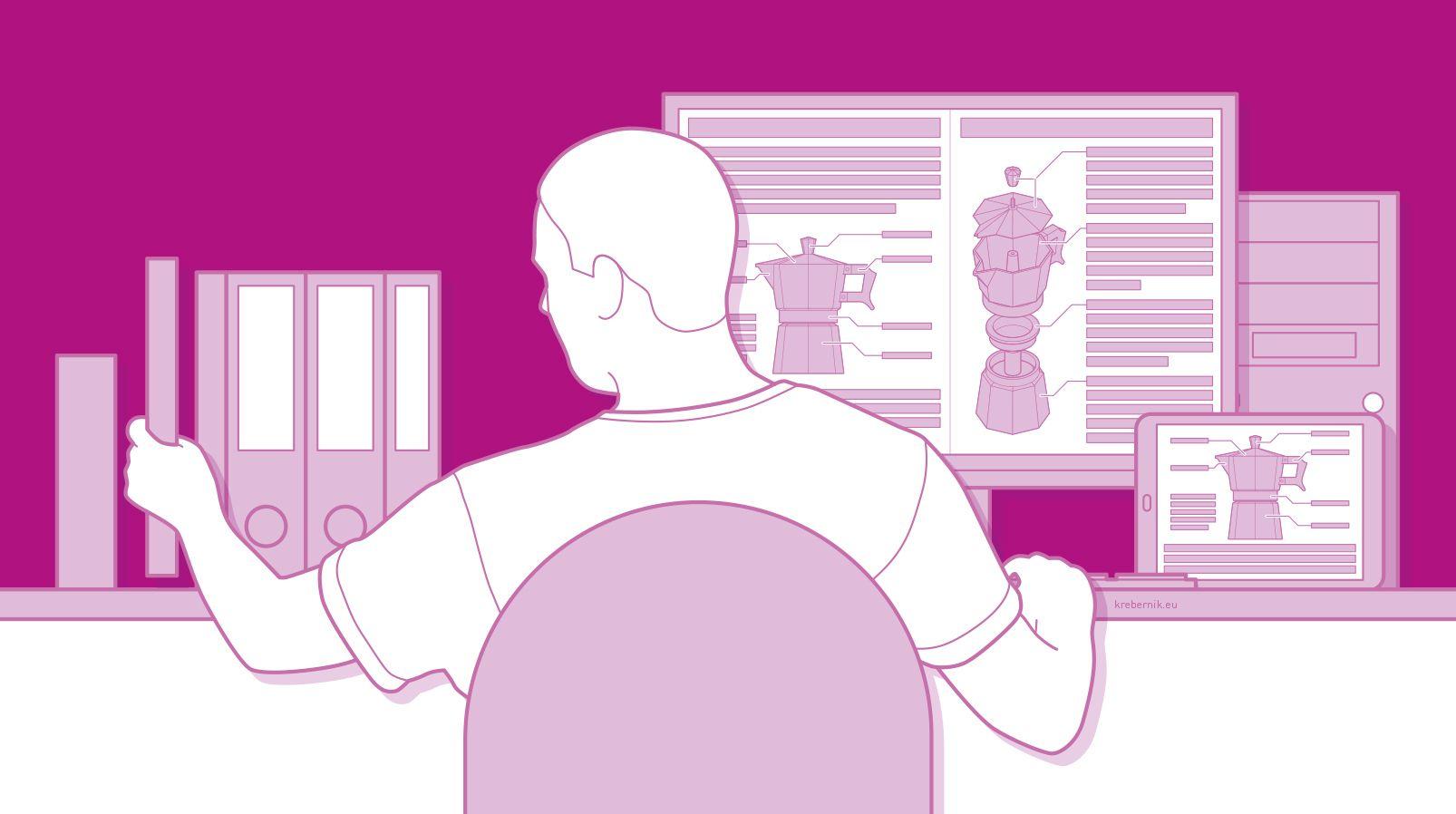 Technik verständlich machen – das ist die Aufgabe von Technischen Redakteurinnen und Redakteuren. (Grafik: krebernik.eu)