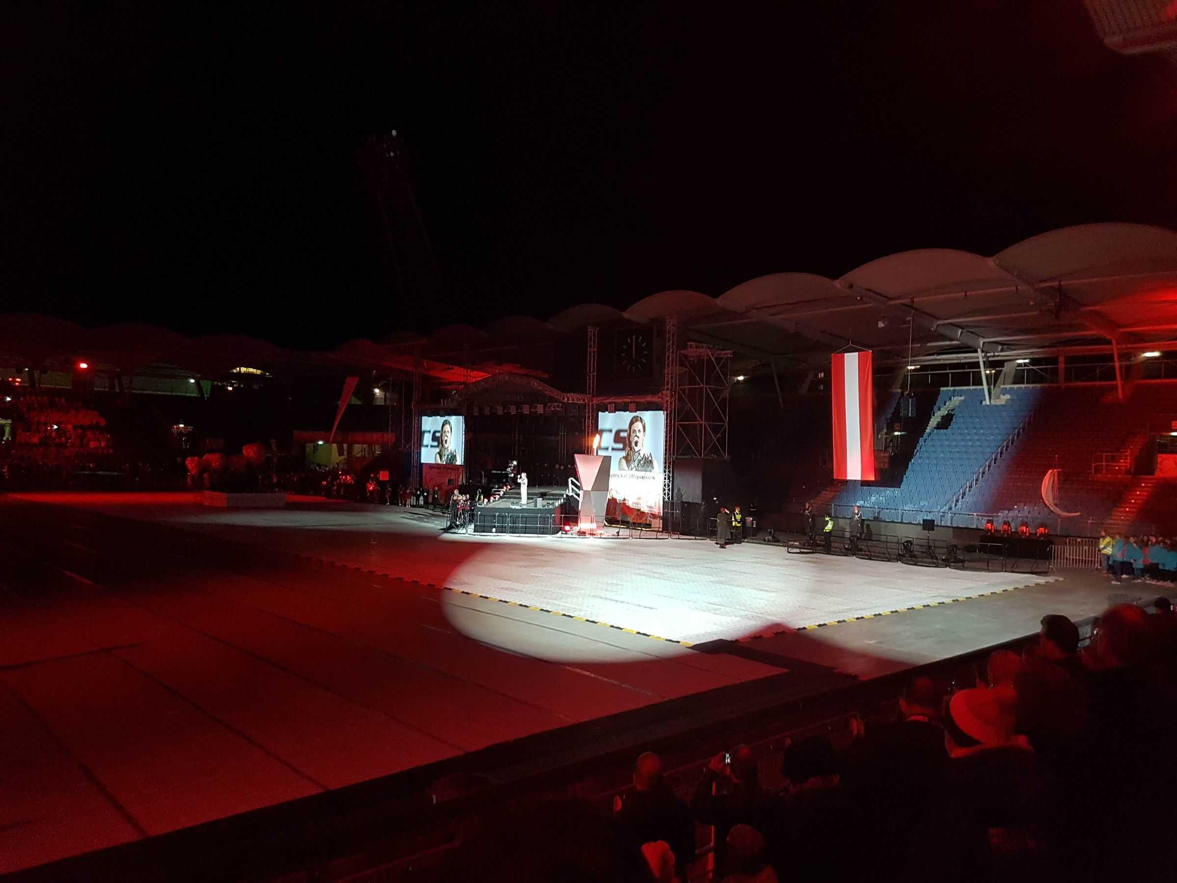 Auftritt von Birgit Stöckler in der Merkur Arena Graz