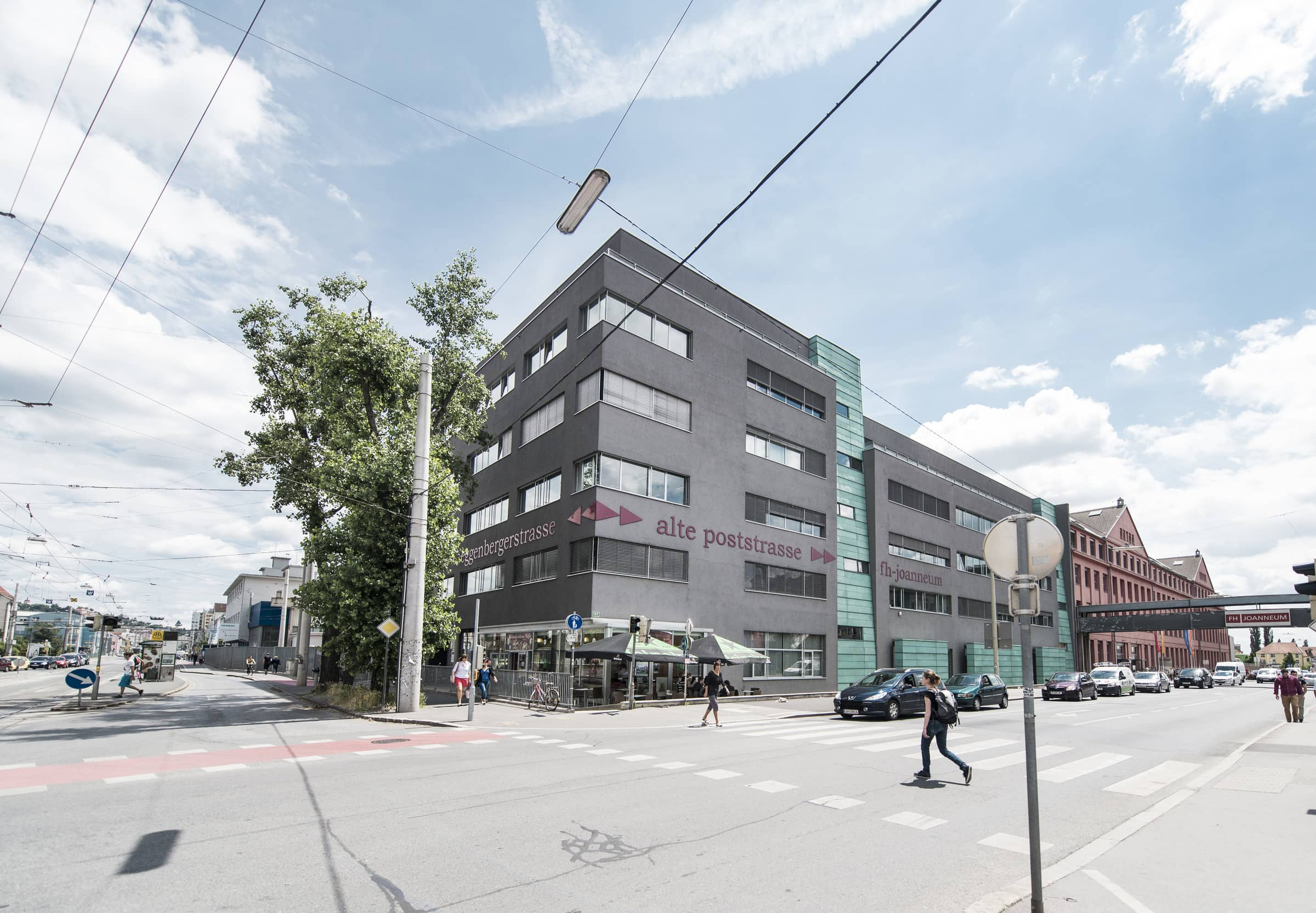 Gebäude der FH JOANNEUM in Graz-Eggenberg.