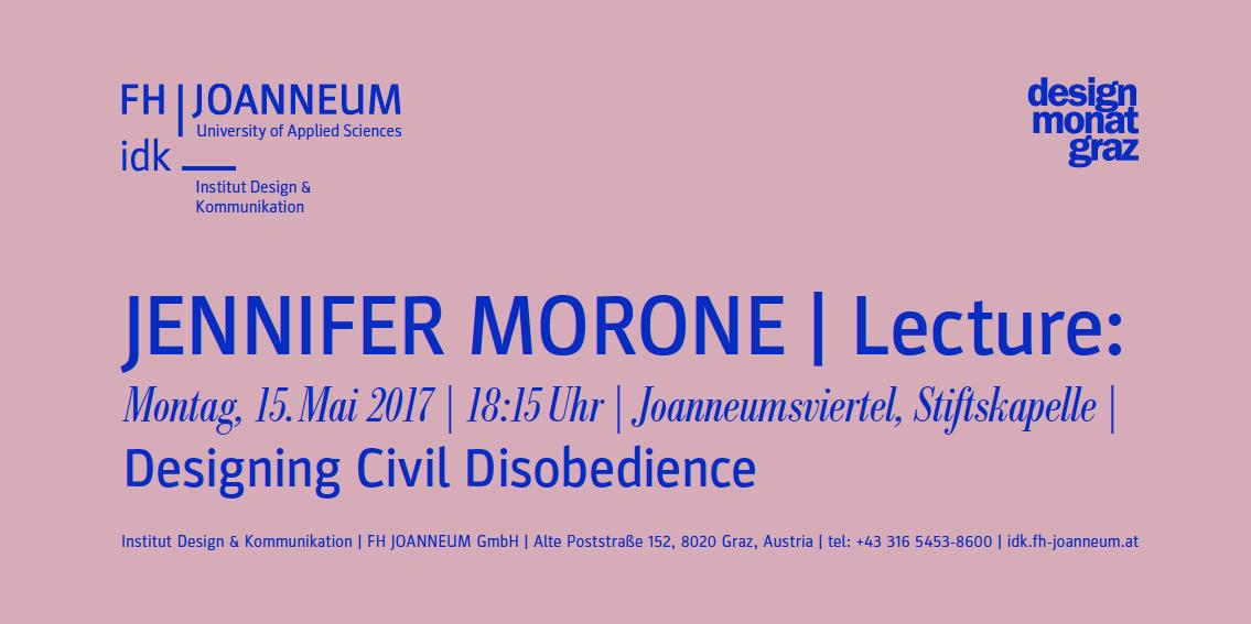 FH Lectures im Designmonat: Jennifer Morone