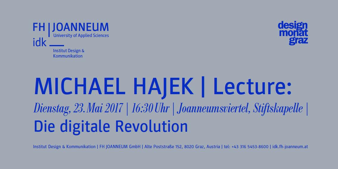 Einladung zur Lecture von Michael Hajek