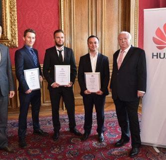 Das sind die Sieger der FH JOANNEUM beim Huawei Studierendenwettbewerb