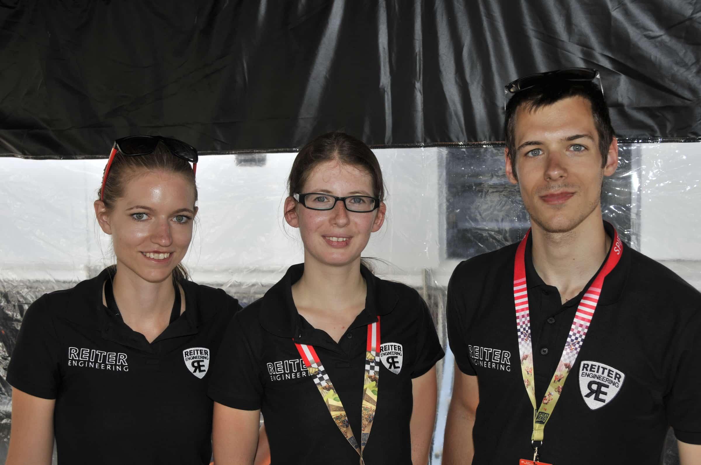 Drei Studierenden nehmen am Wettbewerb teil: Christina Schlamberger, Theresa Edinger und Matthias Bogner.