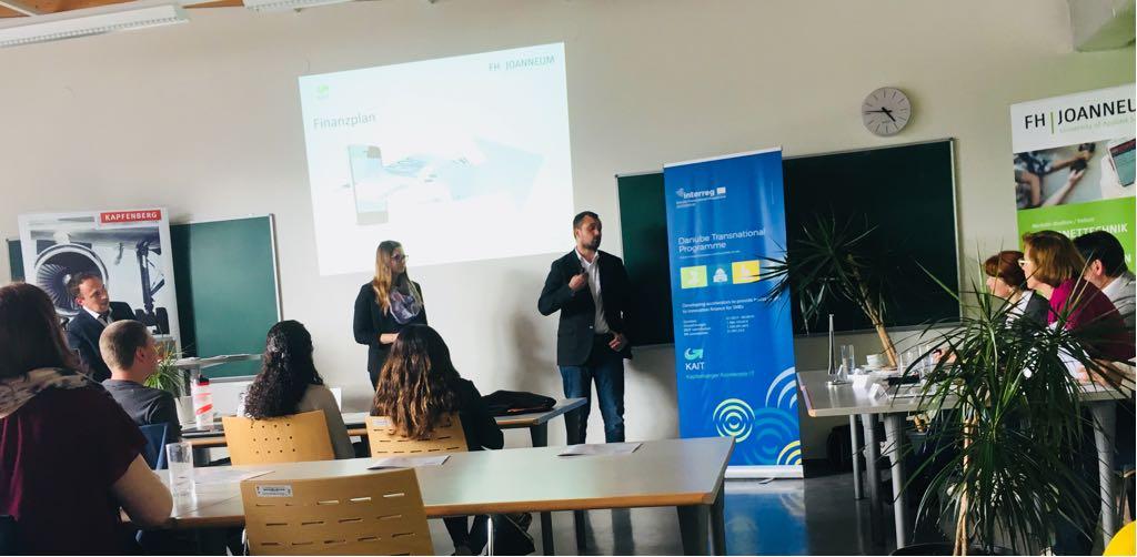 Präsentationen des Businessplanwettbewerbs
