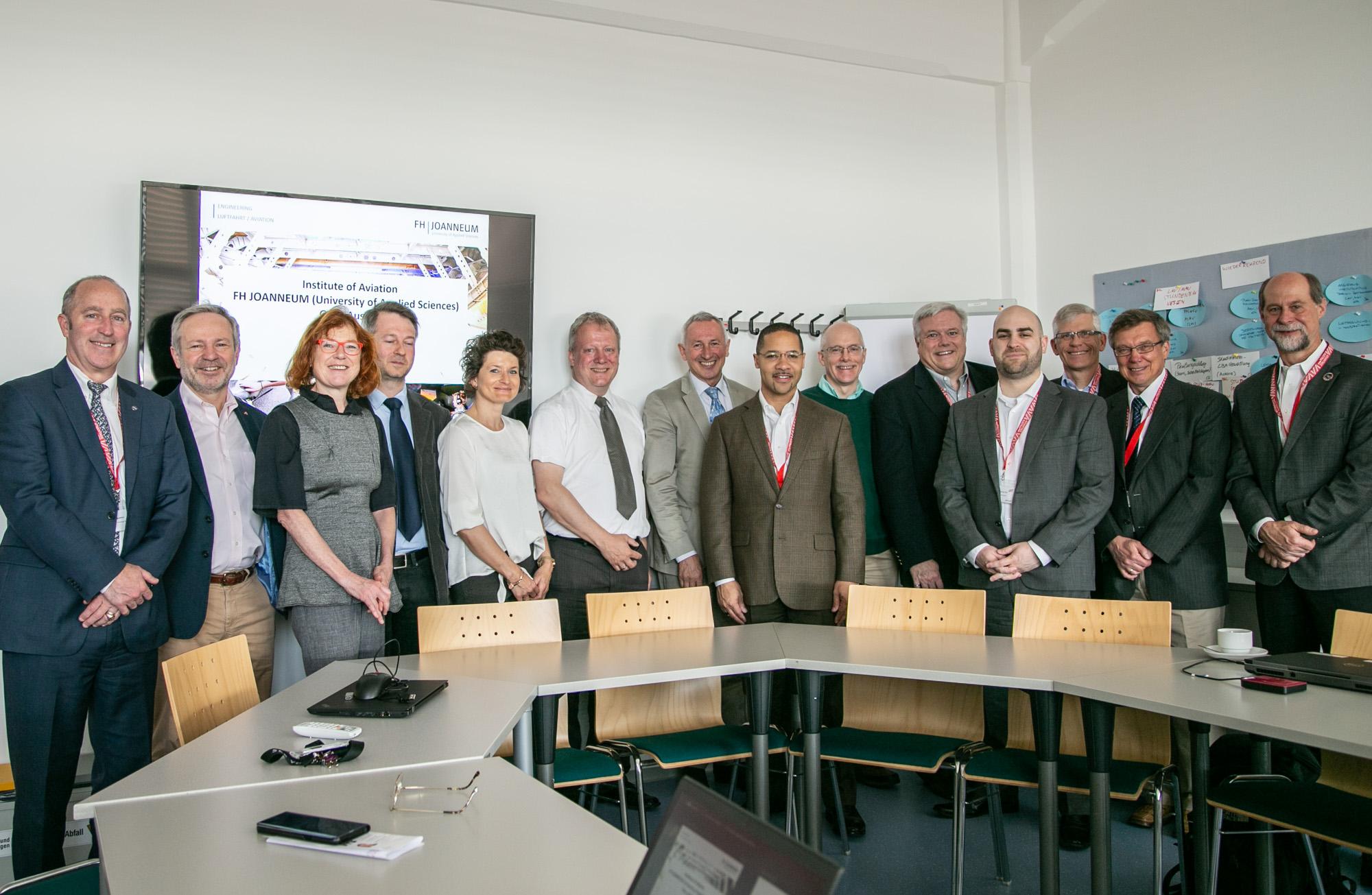 Gruppenfoto der US-Delegation
