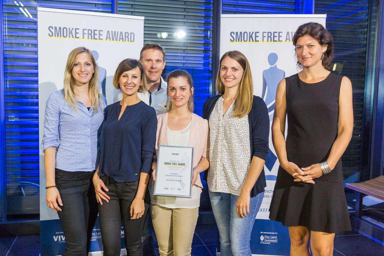 Der Studiengang Physiotherapie wurde auch für den Smoke Free Award nominiert.