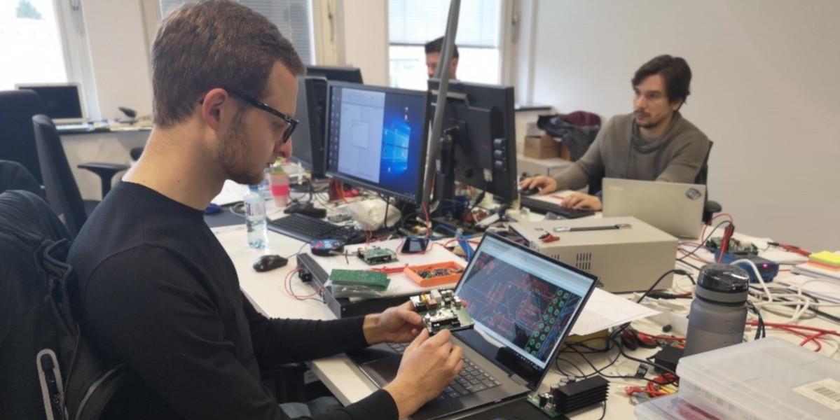 Person beim Arbeiten