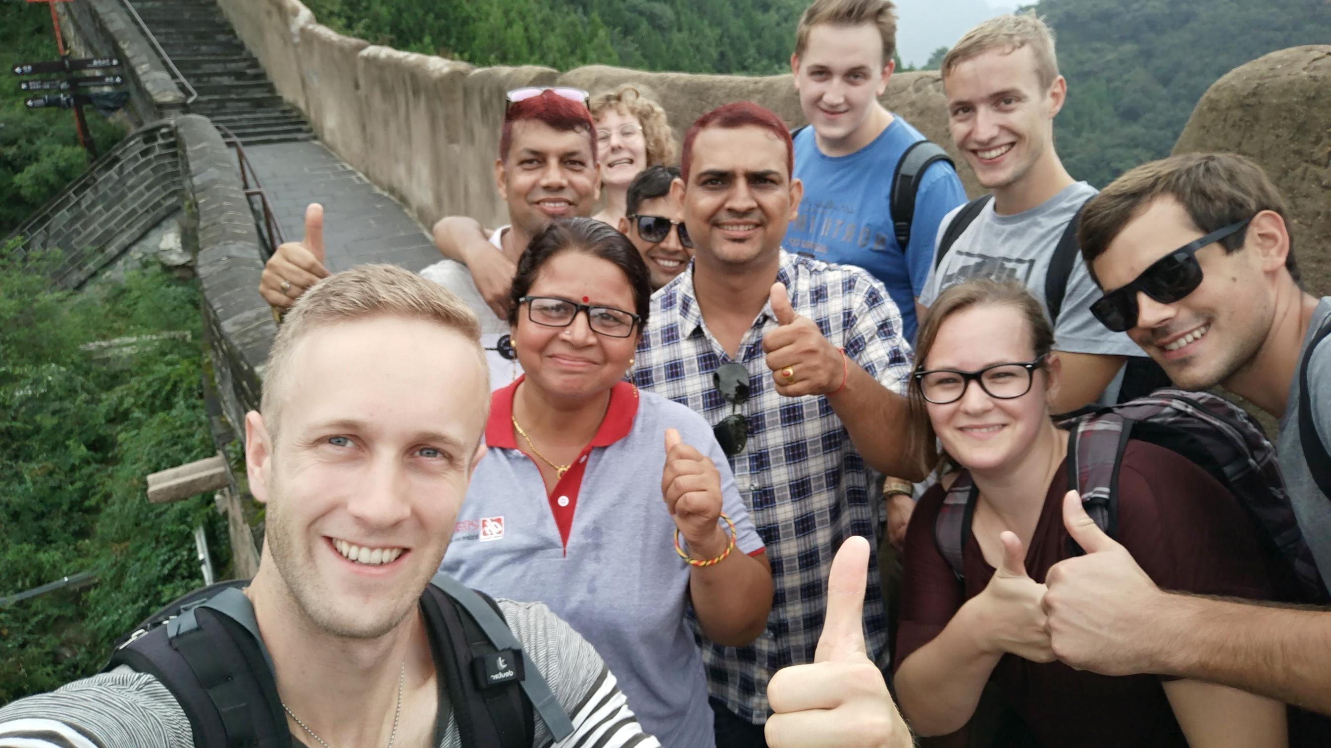 Einige der Teilnehmerinnen und Teilnehmer auf der Great Wall.