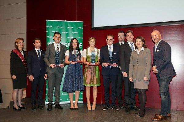 Die Preisträgerinnen und Preisträger des Grawe High Potential Awards.