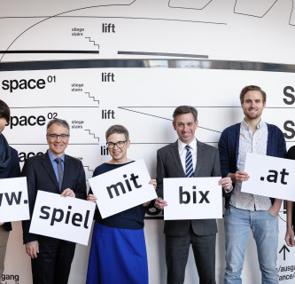 """""""Dein Name auf der Kunsthausfassade"""": www.spielmitbix.at"""
