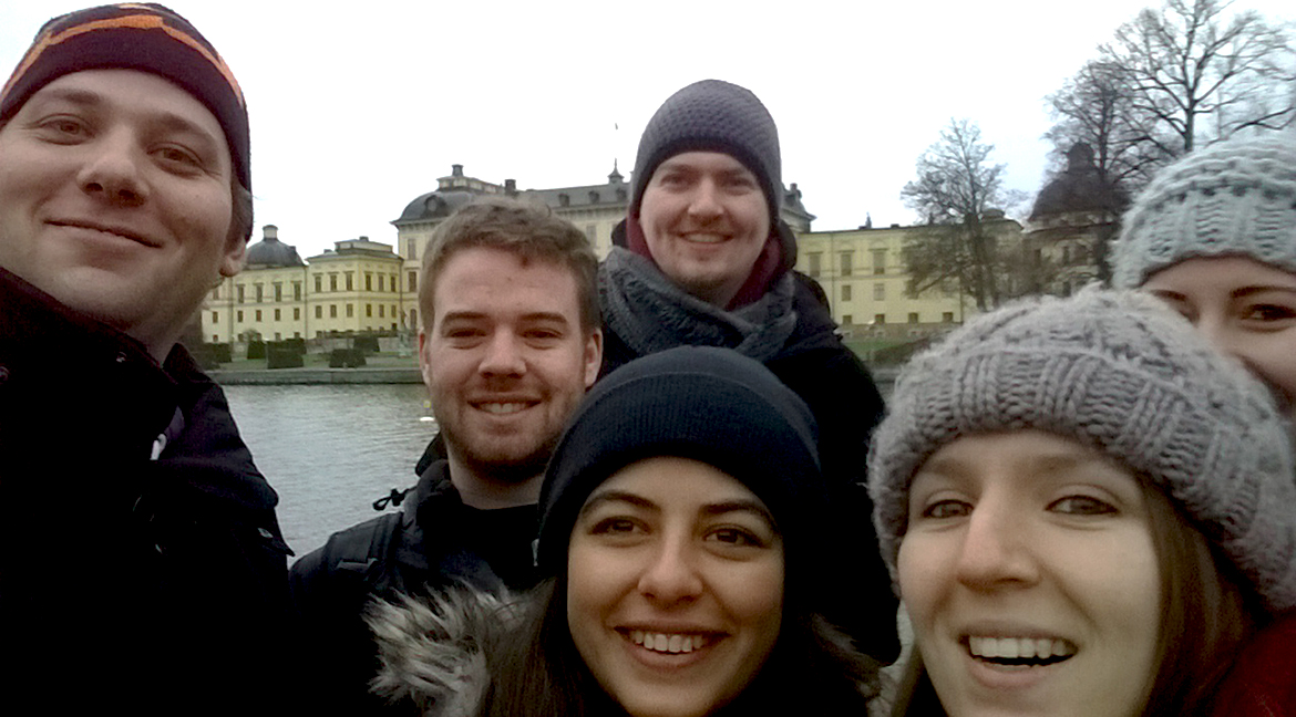 With my course mates outside Drottningholm Palace in Stockholm.